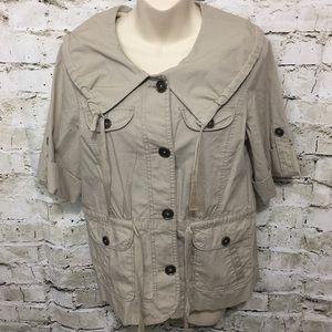 LOFT Jackets & Coats - ❤️LOFT Khaki Utility Tie Waist Jacket